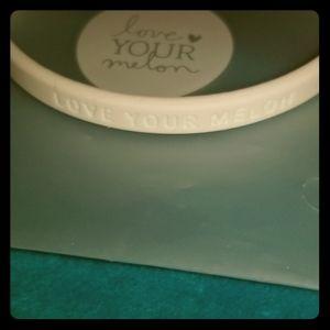 Love Your Melon White Thin Rubber Bracelet